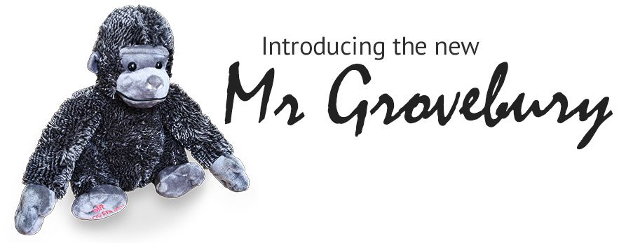 Introducing the new Mr Grovebury soft toy